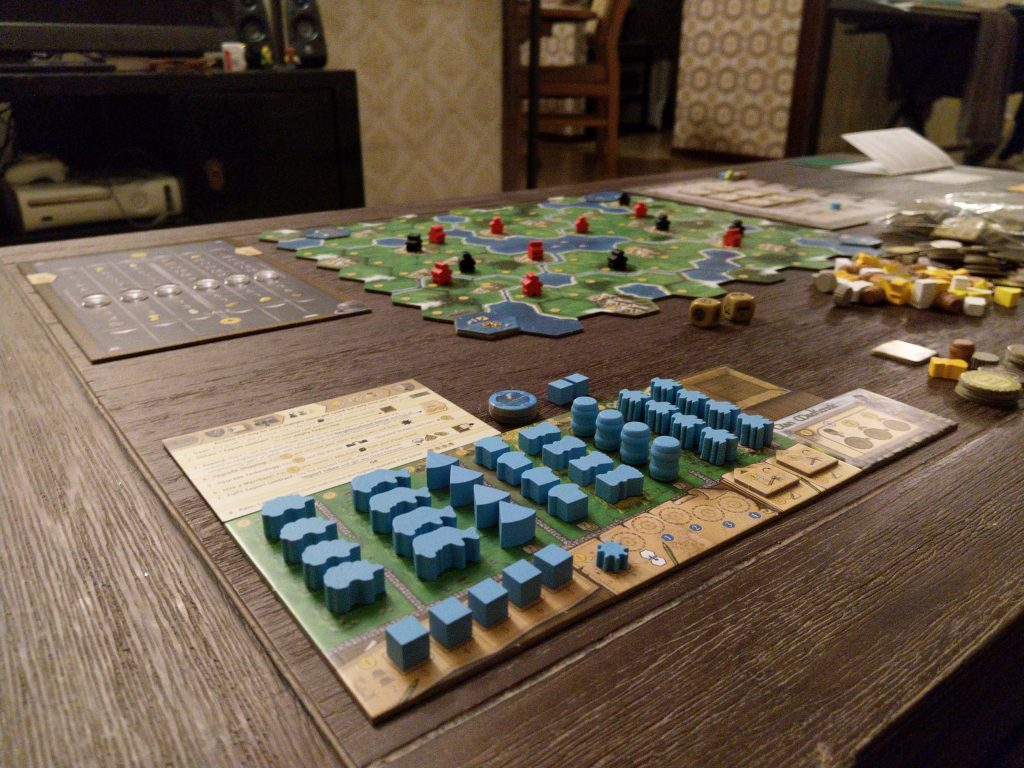 Clans of Caledonia - player board